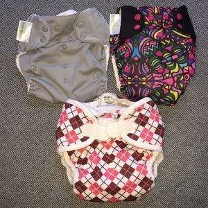 Bumgenius & Thirsties Cloth Diapers Lot Set of 3